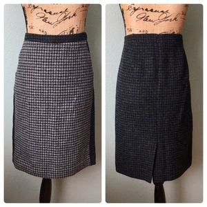 J. Crew size 4 black wool tweed pencil skirt!